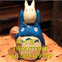 吉卜力宫崎骏正版龙猫储钱罐小蓝小白树脂存钱罐儿童生日礼物批发