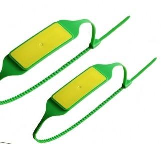 pc蛋蛋人工计划35023 UHF扎带标签ISO18000-6C电子铅封RFID监狱犯人身份识别标签