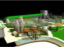 全套私家庭院假山3d模型