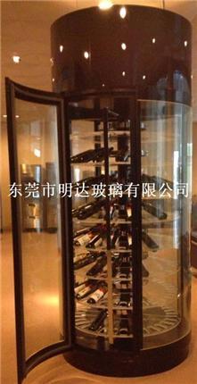 蛋糕展示柜 展示柜 弧形展示柜玻璃廠家
