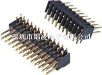 2.54mm双排针,180度/90度,塑高7.4mm