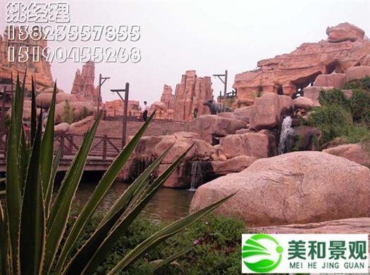 广州大型塑石假山制作案例