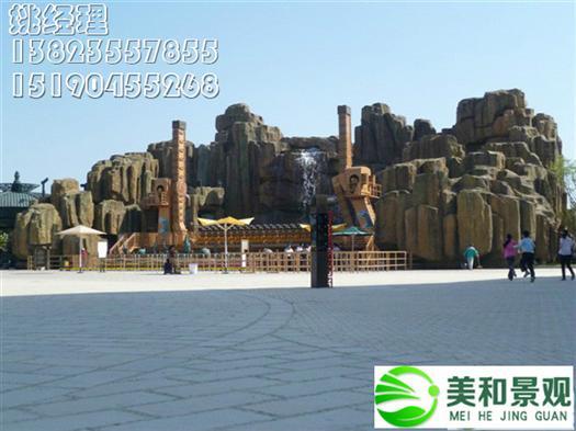 遵义大型水泥塑石假山制作