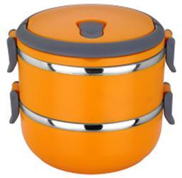 方便攜帶雙層不銹鋼飯盒 -1314