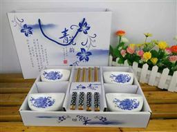 4碗4筷 碗筷套裝禮品  -1098