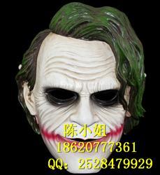 万圣节蝙蝠侠小丑漆黑夜骑士兴起cos道具 恐惧动漫 高级树脂面具