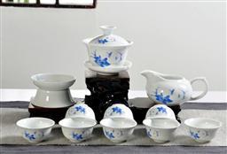 12頭高白茶具 -1003