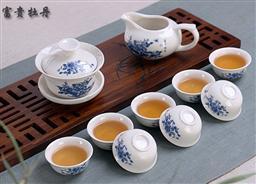 10頭功夫茶具(普通花面) -1003