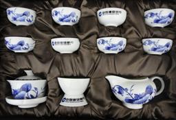 12頭青花瓷(如意杯)茶具 -1003