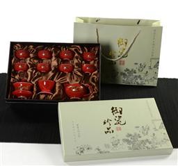 12如意杯(金龍)茶具 -1003