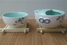 雪花釉(快客杯)茶具 -1003