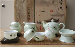 10頭 青瓷(蟬鳴)茶具 -1003