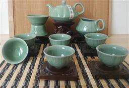 10頭哥窯(梅花壺)茶具 -1003