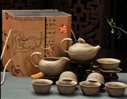 10頭漢陶茶具 -1003