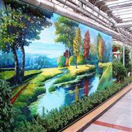 商业广告墙体壁画