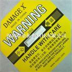 DAMAGE X黄色25G防震警示标签