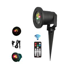 Red and green moving firefly garden laser for outdoor