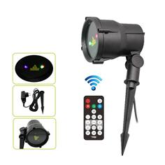 Red green and blue moving firefly garden laser for outdoor