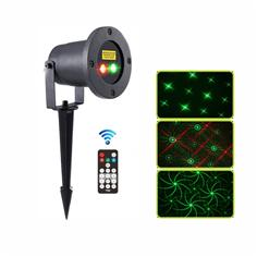 Outdoor red and green moving Eight flower pattern garden laser light