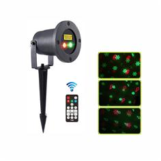 Outdoor red and green moving Christmas eight pattern garden laser light