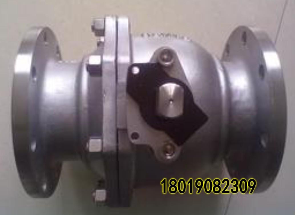 不锈钢法兰带锁球阀dn100图片