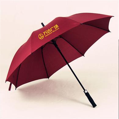 【中山雨傘廠】27寸全纖維萬達廣場廣告傘    廣州雨傘廠