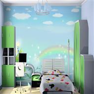 深圳今点艺术儿童卧室手绘墙体壁画
