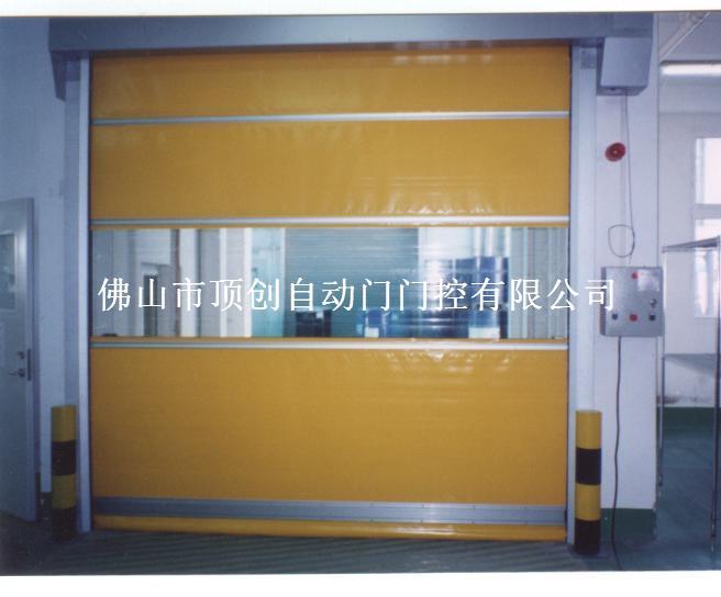 防风隔音轻工业快速门|专业生产高密度工业基布门帘|PVC高速门基布