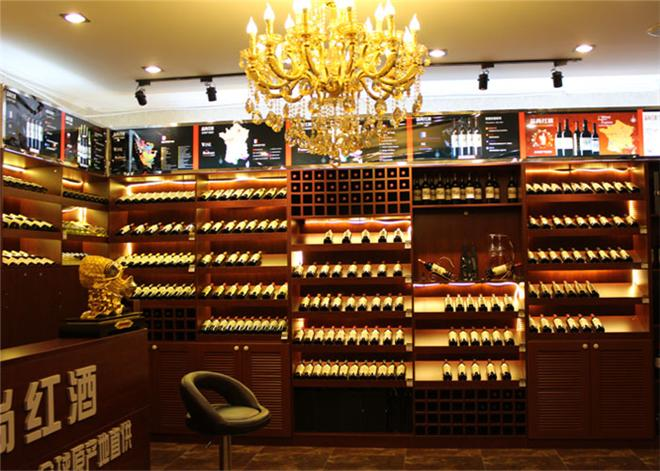 木質紅酒展柜