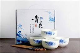 陶瓷青花碗筷套装4碗筷装