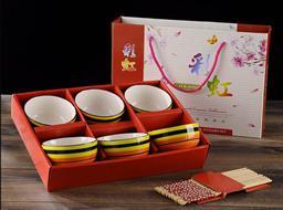 彩虹碗筷套裝