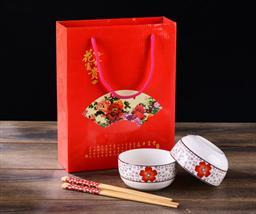印花碗筷套装