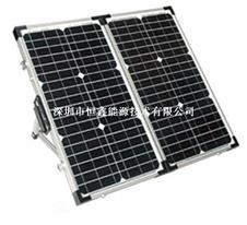 恒鑫厂家提供可定制高效能太阳能板 80W太阳能折叠板