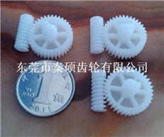 開模定做塑膠齒輪  斜齒蝸桿