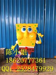 供应批发海绵宝宝卡通雕塑 玻璃钢造型定制 广州玻璃钢厂家直销