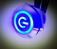 PBM22带环形灯电源标金属按钮开关现货供应灯色多选价钱优惠带灯按钮开关
