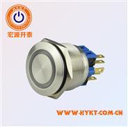 开孔PBM22双色灯金属按钮-厂家曲供 -带灯标志金属按钮-灯色多选