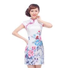 低领祺袍中式复古旗袍