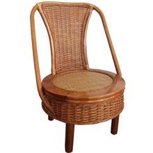 植物藤咖啡旋转椅