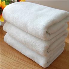 高档竹纤维宾馆洗浴纯白断档提花美容巾