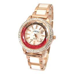 深圳厂家供应金色进口机芯时装女士腕表