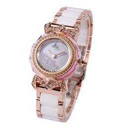 女士陶瓷手表 玫金