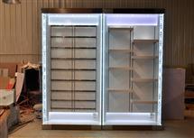 土豪金不锈钢手机配件柜