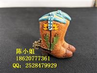 树脂西部牛仔靴子 马靴摆件 树脂工艺礼品 家居 外贸出口