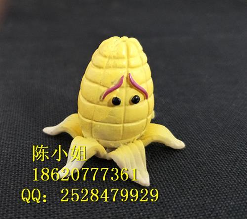 卡通外型玉米小摆件 卡通树脂玉米钥匙扣配件 定制各种树脂产物