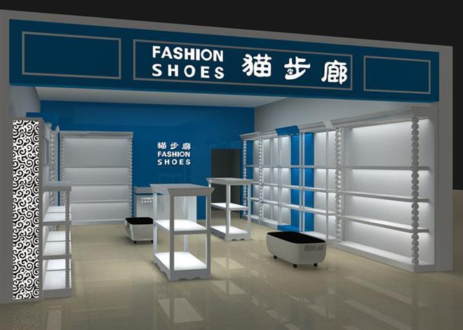 鞋店展示架