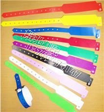 产供应L形状一次性手腕带 娱乐识别带 PVC医用手腕带 可印LOGO