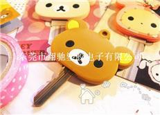 厂家直销韩版轻松熊软胶钥匙套 pvc钥匙套定做