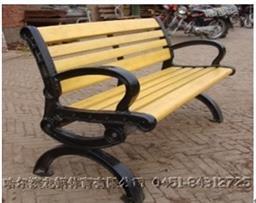 户外休闲路椅_铸铝塑木休闲路椅