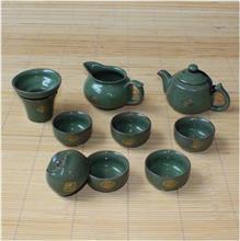 粗陶茶具套装